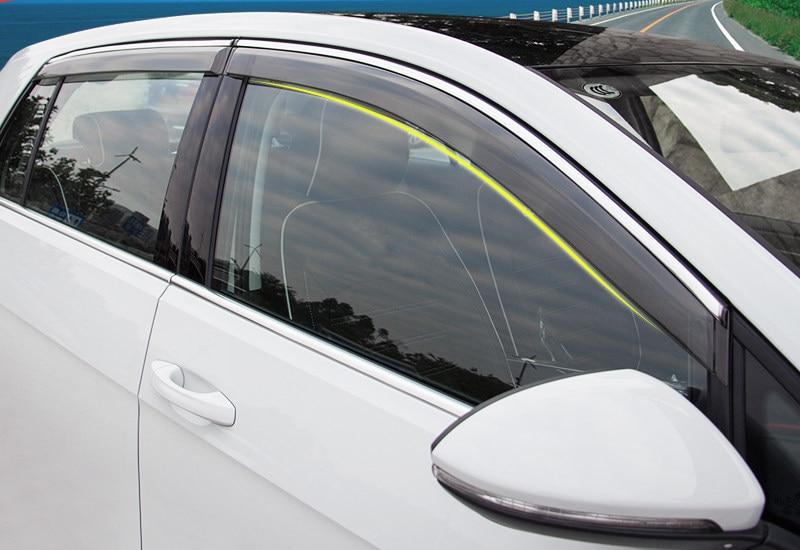 2x Front Door Sun//Rain Guard Wind Deflector Vent Shade Window Visors Smoke 92455