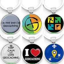 Badge d'activité geocering, étiquette de voyage avec logo, porte-clés gratuite, gardez le calme pour t-shirt