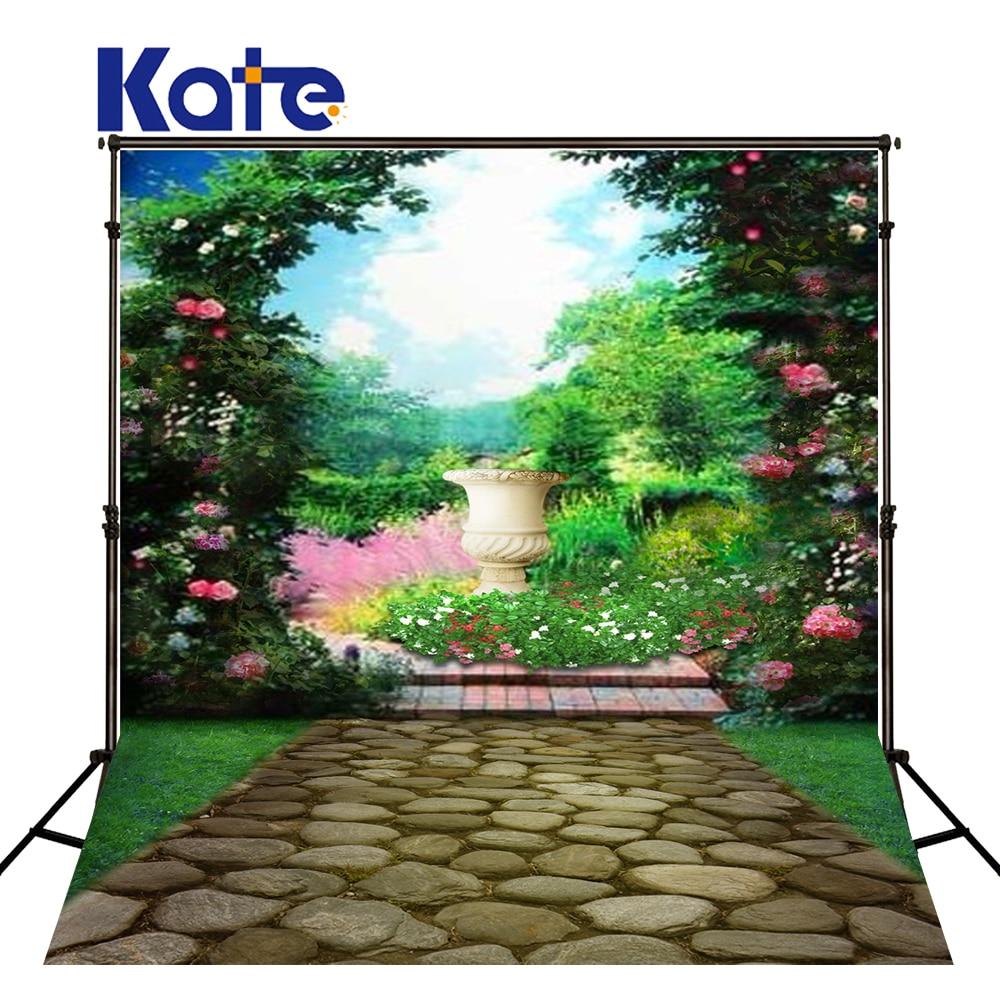 Nouveau-né Photo fond pierre route fleur photographie décors nouveau-né vert écran jardin pour photographe