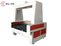 1610 Large Format CCD Camera Positioning Co2 Laser Cutting Machine , Laser cutter Embroider Leather, Paper, Real silk T,extile
