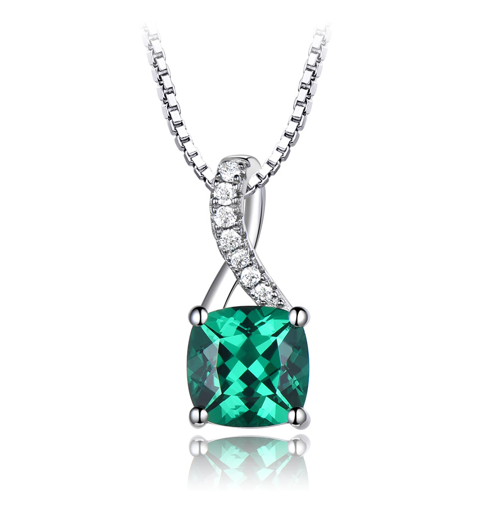 UMCHO Emerald 925 sterling silver jewelry sets for women S027E-1 pc (3)