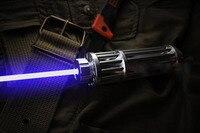 445 450nm 500000 m A Laser Queima Focalizável ponteiro laser azul queimadura papel uso 2*16340 baterias (não incluídas) frete grátis blue laser pointer burn -