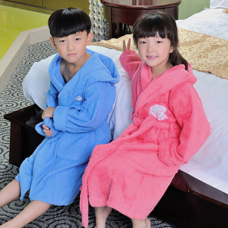 2016 new toweling robe girl&boy pure cotton bathrobe for children pajamas children kids loungewear thick kids pijama