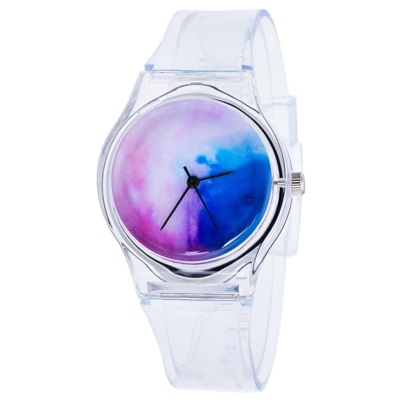 где купить  Transparent Clock Silicone Watches Women Sport Casual Quartz Wristwatches Novelty Crystal Ladies Watch Cartoon Reloj Mujer #Zer  дешево
