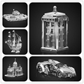 Doctor who tardis 3d modelo de ensamblaje de metal hknanyuan churchill tanque noria rompecabezas diy juguete regalos creativos decoración