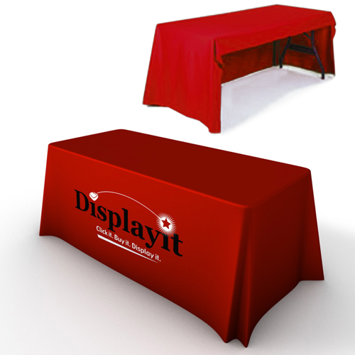 6 Custom Print Trade Show Table Skirts & Covers, Open Back Custom Printed Tableclothes / Free shipping