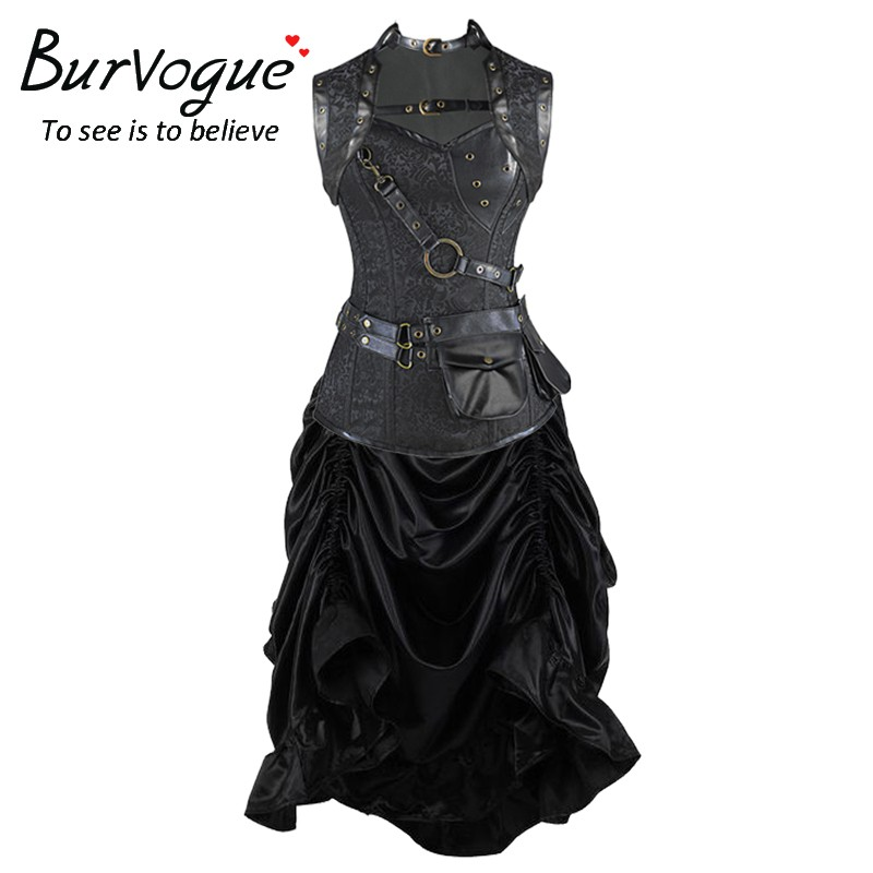 gothic-steampunk-corset-dress-wholesale-P20014