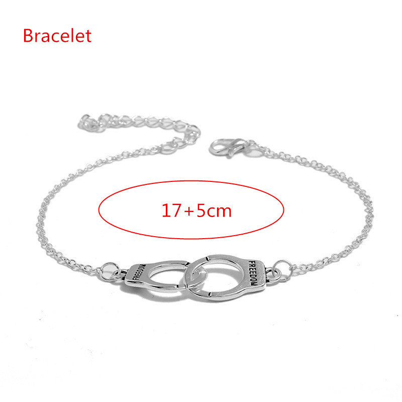 New-Fashion-Love-Handcuffs-Beach-Anklets-For-Women-Trendy-Foot-Jewelry-Freedom-Letters-Leg-Bracelet-Nice