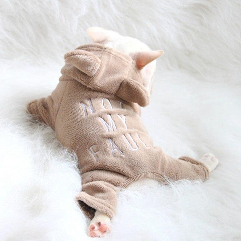 [MPK Store] NMF Series ropa para perros ropa para gatos perro y gato suéter Bulldog francés ropa con orejas de oso, 7 tamaños en 3 colores
