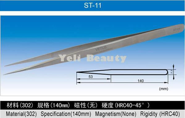 En acier inoxydable 3/mm Largeur pointe carr/ée Pince Pince /à /épiler droite 16/cm