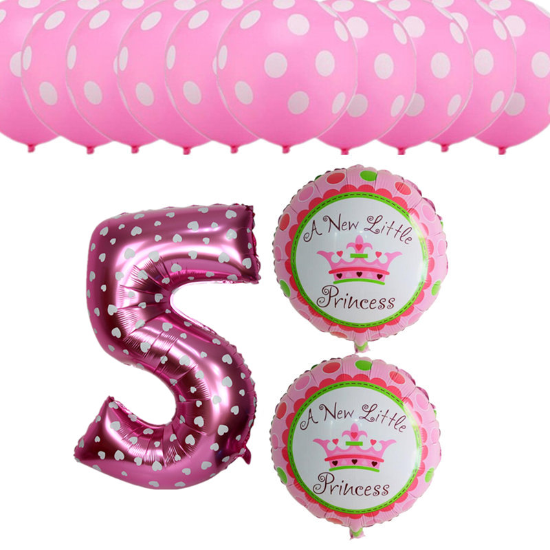 13pcsset Happy Birthday Party Decoration Balloons Girls Boys 5