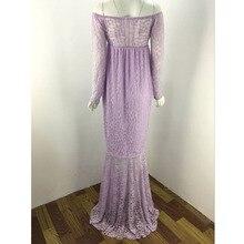 No Shoulder Lace Maternity Dress