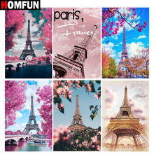 HOMFUN Full Square/Round Drill 5D DIY Diamond Painting Tower scenery 3D Embroidery Cross Stitch 5D Home Decor Gift homfun full square round drill 5d diy diamond painting city scenery embroidery cross stitch 3d home decor gift a01716