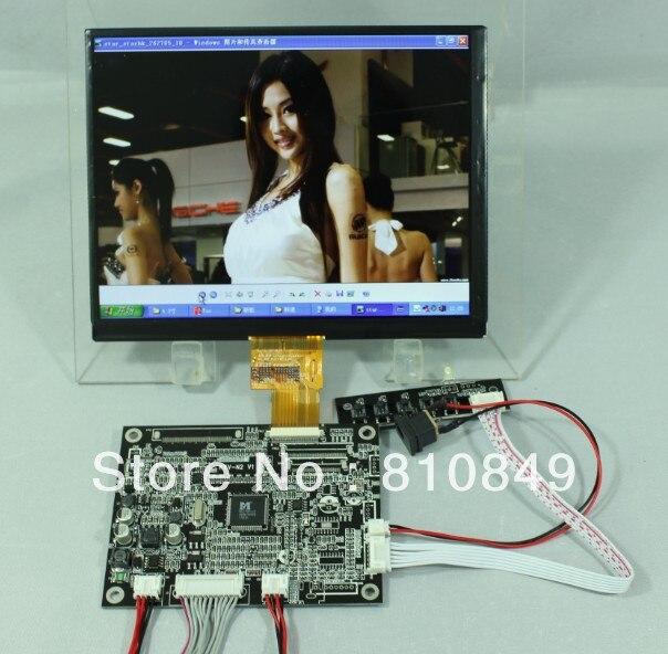 VGA 2AV Reversing LCD Controller Board+8inch HJ080IA-1B 1E 1024X768 IPS LCD Screen 840p hj080ia 01e m1 a1p88