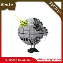Bevle Store 3449pcs LEPIN 05026 star space Death Star second generation model Building Blocks set Bricks Children Toys 10143