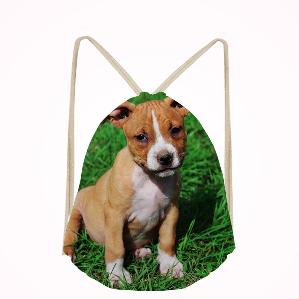 416743a189a9 Casual Men American Staffordshire Terrier Dog Lover Small Children School  Bag Kids Backpack Bags Boys Drawstring Bag Mochila
