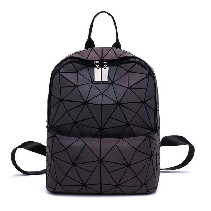 Women Backpack Geometric Luminous Travel Bags for School  Bag Knapsack Holographic Backpacks for Teenage Girl Rucksack MochilaWomen Backpack Geometric Luminous Travel Bags for School  Bag Knapsack Holographic Backpacks for Teenage Girl Rucksack Mochila
