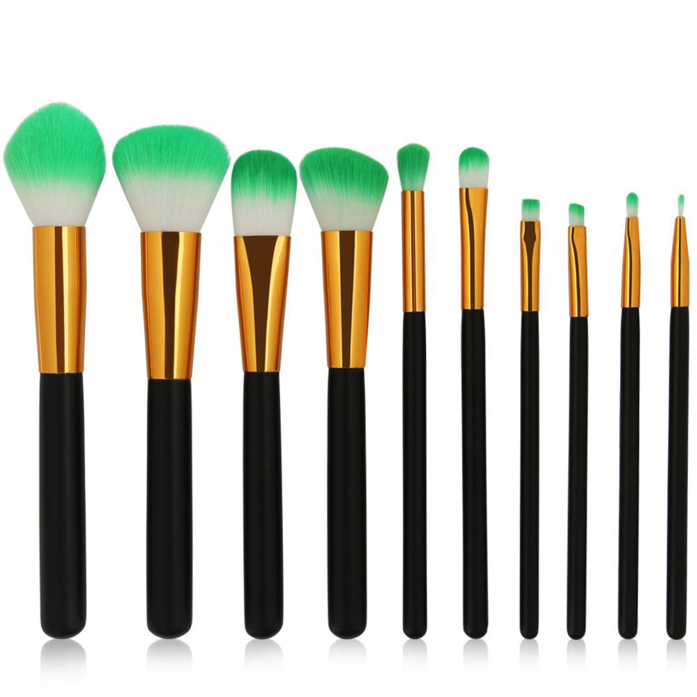 цены New 10Pcs/Kit Makeup Brushes Tool Set Cosmetics Foundation Loose Powder Blush Eyeshadow Lip Highlight Blending Beauty Brush