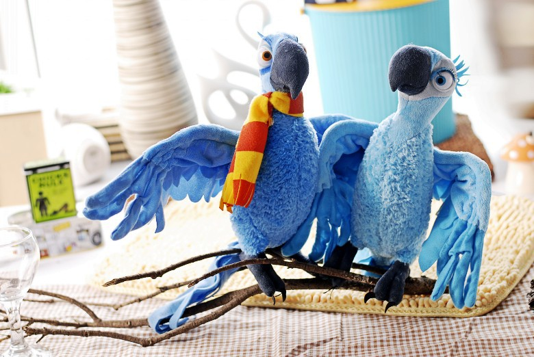 stuffed animal plush 38cm Rio macaw parrot plush toy doll w1218 stuffed animal 44 cm plush standing cow toy simulation dairy cattle doll great gift w501