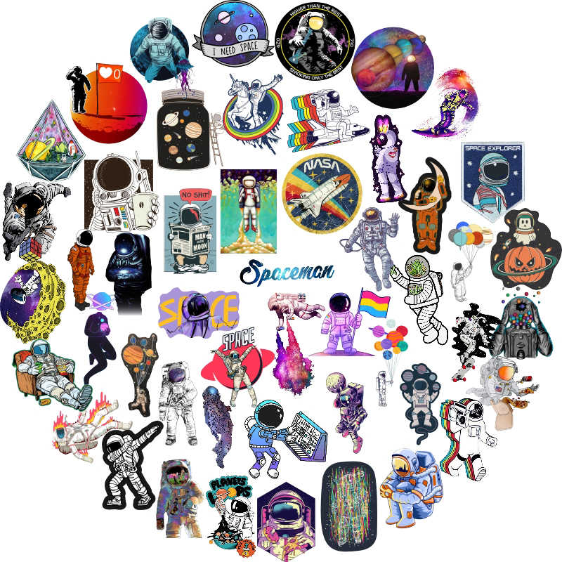 Detail Feedback Questions about 50Pcs Outer Space Graffiti Stickers