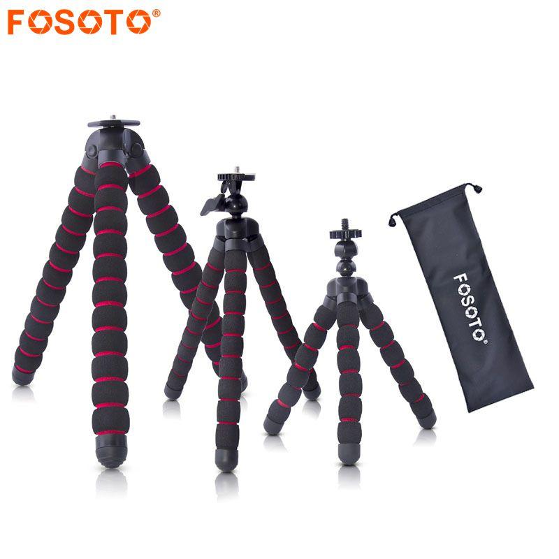 Fosoto Octopus Trépieds Stand Araignée Flexible Mobile Mini Trépied Gorillapod Pour iPhone GoPro Canon Nikon Sony Caméra Table Bureau
