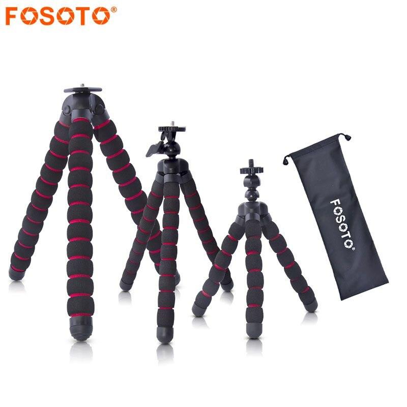 Fosoto Pulpo Trípodes Soporte Móvil Mini Trípode Gorillapod Flexible de la Araña Para el iphone GoPro Canon Nikon Sony Cámara de Mesa Escritorio
