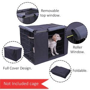 Image 2 - Capa impermeável para casa de cachorro, capa à prova de poeira e durável para gaiola de cães de oxford, dobrável, lavável, capa de cachorro