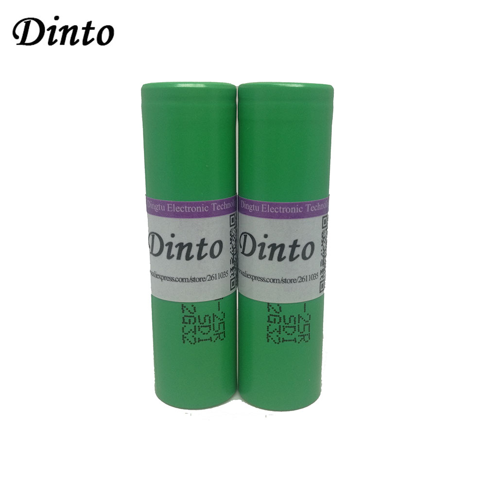 Dinto 1piece INR18650-25R 2500mAh Battery for Samsung 3.6V Rechargeable Li-ion Lithium Batteries image