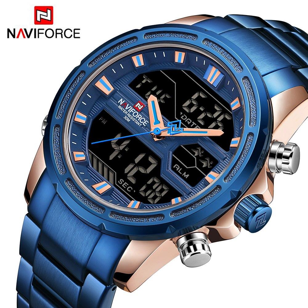 NAVIFORCE Hommes Montres Marque De Luxe De Mode Casual Sport Montre Numérique Quartz Hommes Horloge Militaire Montre-Bracelet Relogio Masculino