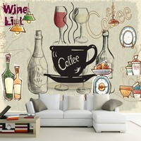 Custom 3d mural 3D Cafe Restaurant European Style Wall Fresco custom Hand Painted wallpaper Decorative painting