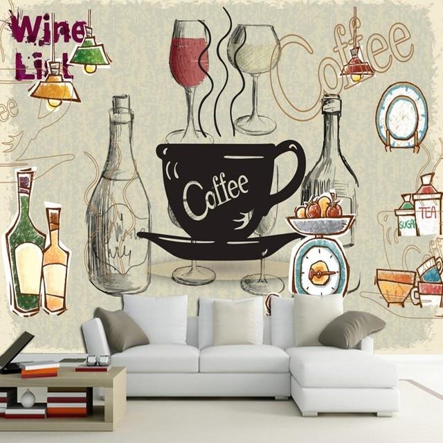 Custom 3d Mural 3d Cafe Restaurant European Style Wall