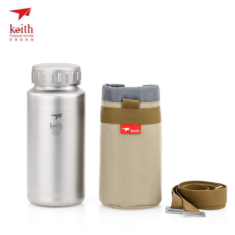 Keith Titanium Kettle Non-threaded Bottle With Bottle Bag For Outdoor Camping Hiking Travel Kettle Large Capacity 1200ml Ti3036 katy perry auckland