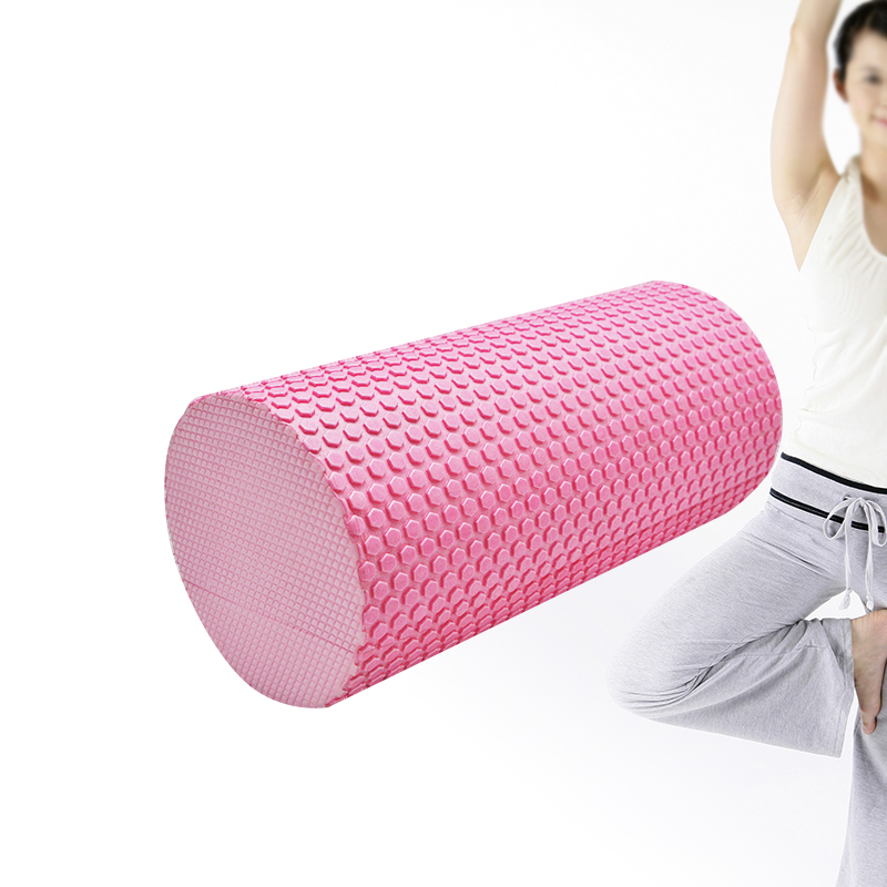 High Density Floating Point EVA Yoga Pilates Fitness Gym Foam Roller Massage Black Soft 2015 yoga block eva foam roller the set of foam roller a small and large relax column 4colors gym fitness sporting equipment
