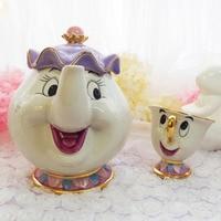 Cartoon Beauty And The Beast Teapot Mug Set Mrs Potts Chip Coffee Tea Pot Cup One Set Lovely Gift Fast Post