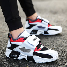 MWY Winter Warm Fashion Popular Running Shoes Men Zapatillas Hombre Breathable Hook Loop Sneakers For Men Athletic Sport Shoes