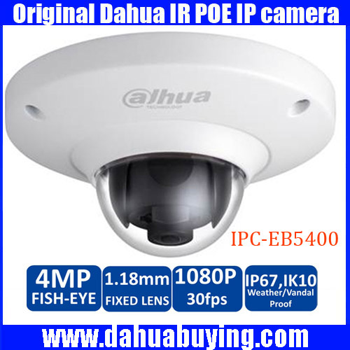 Dahua IPC EB5400 4MP Vandal Fisheye 25 30fps 1080P IK10 POE DAHUA IPC EB5400 4MP Vandal