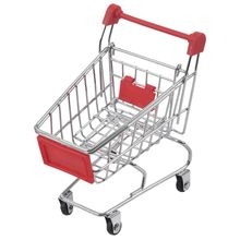 Mini Supermarket Shopping Cart Handcart Utility Mode Storage Toy