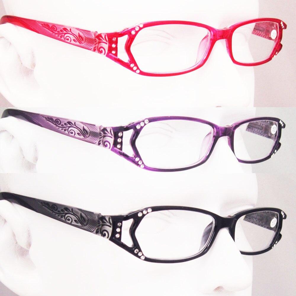 ad532585fd Agstum Womens Rhinestone Spring Hinge Reading Glasses CE Readers +1 +1.75 +2  +