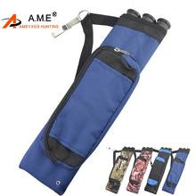 1 PC Archery Waist-mounted Quiver 3 Tube Carbon Arrow Case Shooting Quivers Right Hand Recurve Traditional