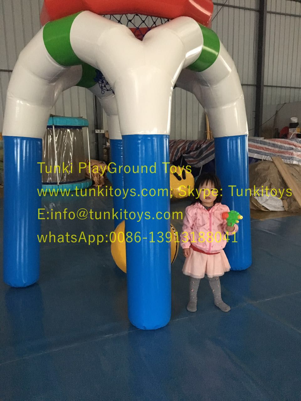 free shipping! airtight 2.4mH inflatable water toys inflatable basketball shot giant inflatable basketball hoop