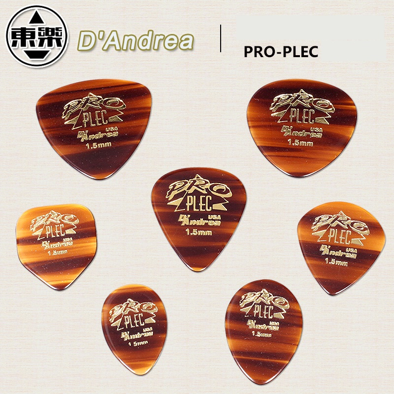 D'andrea Pro-Plec Guitar Pick Plectrum Mediator, All 7 Shapes Available