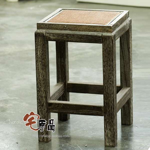 Paulownia wood burning dual Stool Stool rattan face makeup stool stool antique chair Jiangsu, Zhejiang and package delivery rest jiangsu seedlings 12