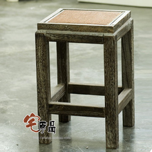 Paulownia wood burning dual Stool Stool rattan face makeup stool stool antique chair Jiangsu, Zhejiang and package delivery rest