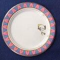 Чайный набор «Красавица и Чудовище», керамическая тарелка соусник, чашка «Mrs Potts» с чипом, чашка, Красивый фарфоровый кофе, креативный Рождес...