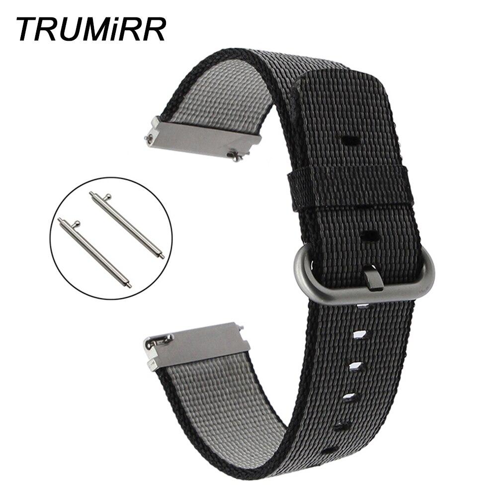 22mm Bracelet de montre en Nylon à dégagement rapide pour Diesel DZ CK Timex Armani Bracelet de montre en acier inoxydable boucle Bracelet Bracelet noir