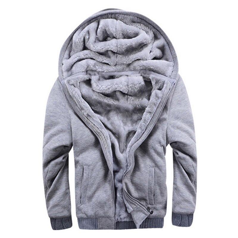 HTB1qEf7avWG3KVjSZFgq6zTspXaE - Oeak Mens Casual Winter Thickened Warm Coat 2019 New Casual Zipper Hooded Fleece Long Sleeve Jacket Male Solid Color Parkas