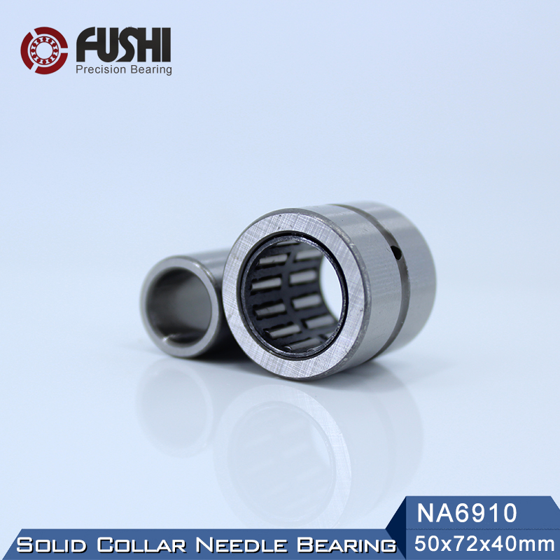 NA6910RS Bearing 50*72*40 mm ( 1 PC ) Solid Collar Needle Roller Bearings With Inner Ring NA6910 RS Bearing bk5020 needle bearings 50 58 20 mm 1 pc drawn cup needle roller bearing bk505820 caged closed one end 55941 50