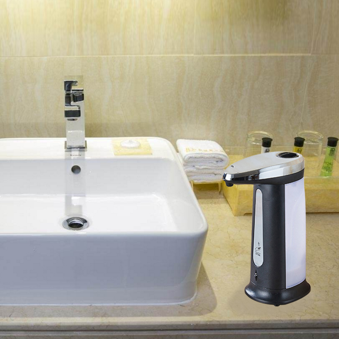 New Arrival 400Ml Electroplated Automatic Liquid Soap Dispenser Smart Sensor Touchless Sanitizer Dispensador Kitchen Bathroom