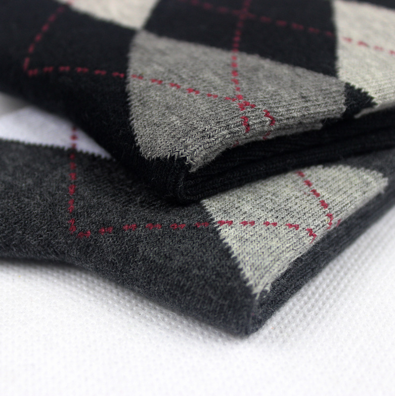 2015 Spring Fashion Men Casual Socks High Quality Socks Multi-Color Argyle Crew Socks Cotton Dress Free Size 8M02469