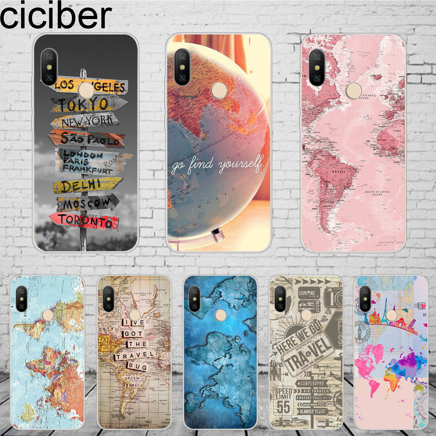 ciciber World Map Travel For Xiaomi MIX MAX 3 2 1 S Pro Harry Potter ...